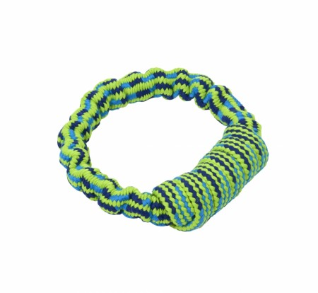 Buster Colour Bungee Rope Handle, Blå / Lime, 16 cm